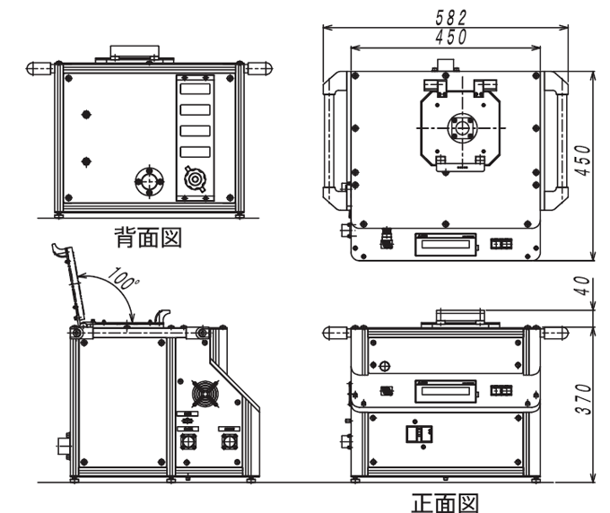 SAL1000B外観図