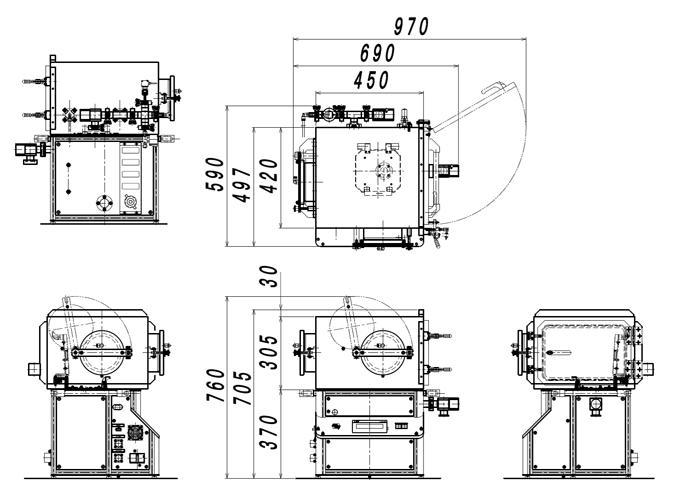 SAL1000G外観図