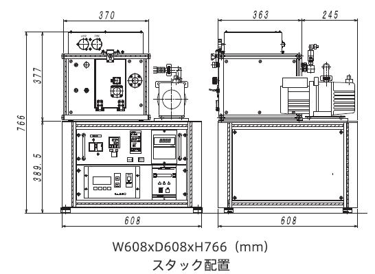 SSP1000外観図スタック配置