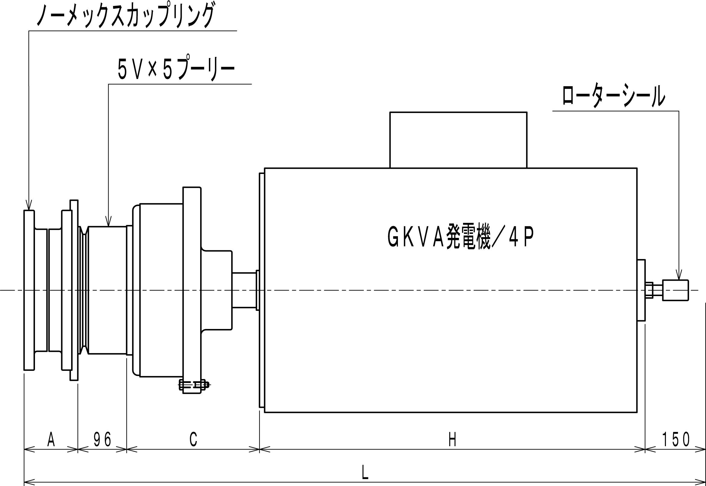 発電機直結型エアークラッチ Cタイプ